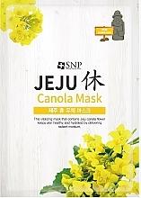 Profumi e cosmetici Maschera idratante all'olio di canola, in tessuto - SNP Jeju Rest Canola Mask