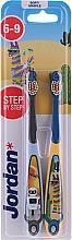 Profumi e cosmetici Spazzolino da denti per bambini, 6-9 anni, con robot e lama - Jordan Step By Step Soft