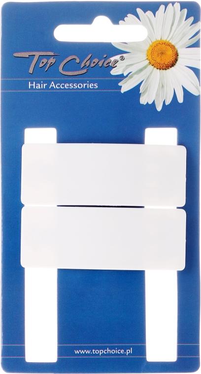 "Fermacapelli ""White Collection"", forma rettangolare, bianca, 2 pz - Top Choice — foto N1"
