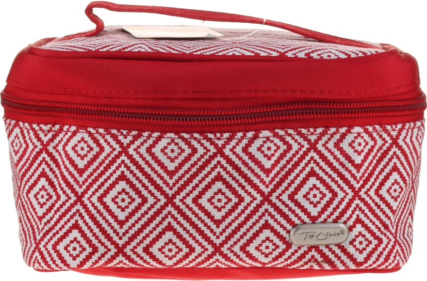 "Beauty case ""Rhombus"", 93784, rossa - Top Choice"