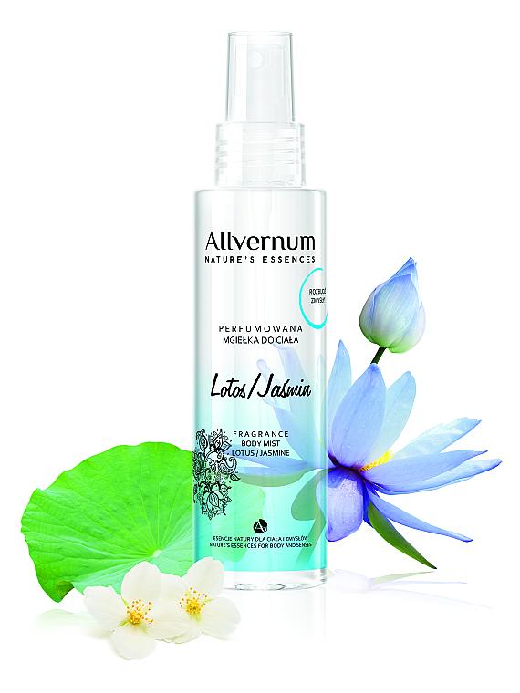 """Spray corpo profumato """"Loto e Gelsomino"""" - Allverne Nature's Essences Body Mist"""