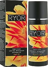 Profumi e cosmetici Crema con seta, beta-glucano e olio di argan, da notte - Ryor Night Cream With Silk, Beta-Glucan And Argan Oil