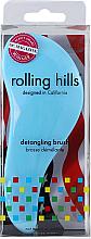 Profumi e cosmetici Spazzola per capelli, azzurra - Rolling Hills Detangling Brush Travel Size Sky Blue