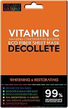 Profumi e cosmetici Maschera express per la zona del décolleté - Beauty Face IST Whitening & Restorating Decolette Mask Vitamin C