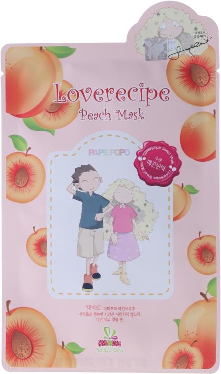 Maschera in tessuto con estratto di pesca - Sally's Box Loverecipe Peach Mask