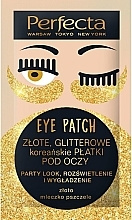 "Profumi e cosmetici Patch occhi ""Golden glitter"" - Perfecta Gold Glitter Eye Patch"
