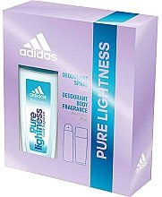 Profumi e cosmetici Adidas Pure Lightness - Set (deo/75ml+spray/150ml)