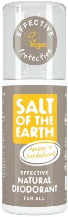 Deodorante spray naturale - Salt of the Earth Amber & Sandalwood Natural Deodorant Spray — foto N1
