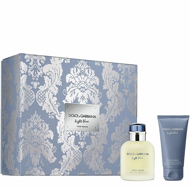 Dolce&Gabbana Light Blue Pour Homme - Set (edt/75ml + ash/balm/50ml)