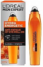 Profumi e cosmetici Siero contorno occhi - L'Oreal Paris Men Expert Hydra Energetic Roll-on Eyes