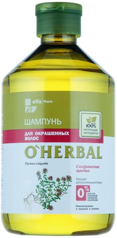 Shampoo per capelli colorati con estratto di timo - O'Herbal — foto N1