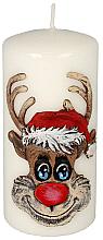 "Profumi e cosmetici Candela decorativa ""Rudolph"", bianca, 7x10cm - Artman Christmas Candle Rudolf"