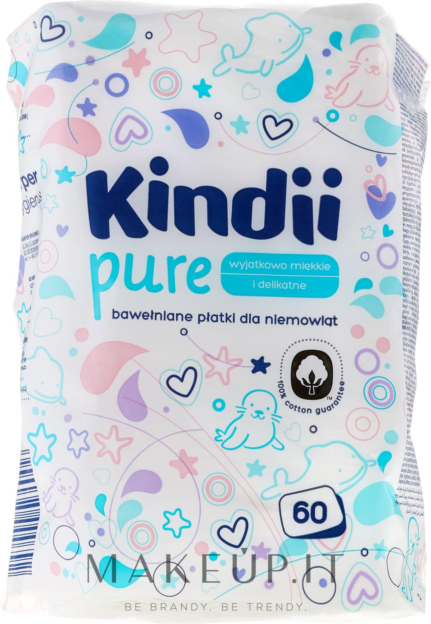 "Dischetti di cotone per bambini ""Kindi"", 60 pz - Cleanic Kids Care Cotton Pads — foto 60 pz."