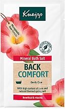 """Profumi e cosmetici Sale da bagno """"Ritorno del comfort"""" - Kneipp Mineral Bath Salt Back Comfort Devils Claw"""