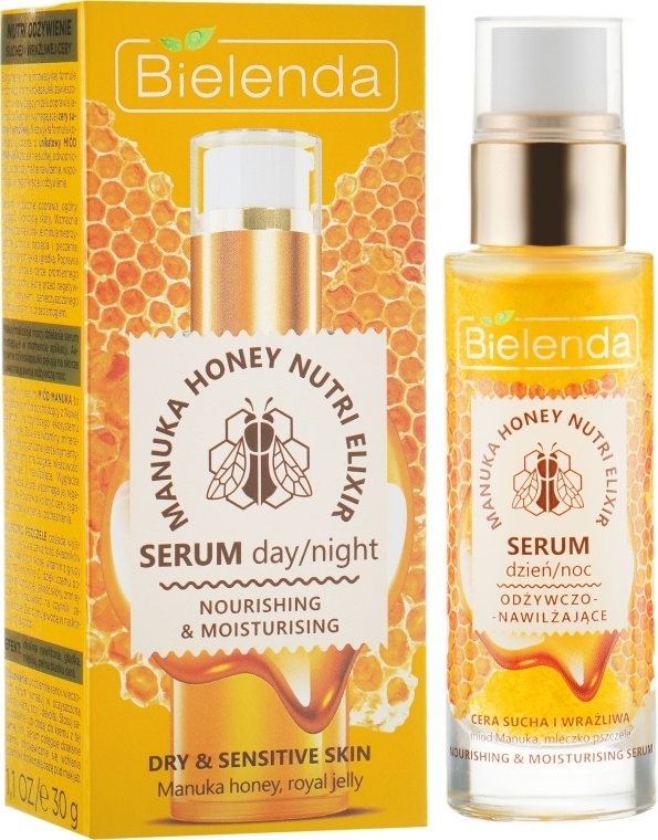 Siero viso nutriente idratante - Bielenda Manuka Honey Nutri Elixir Serum