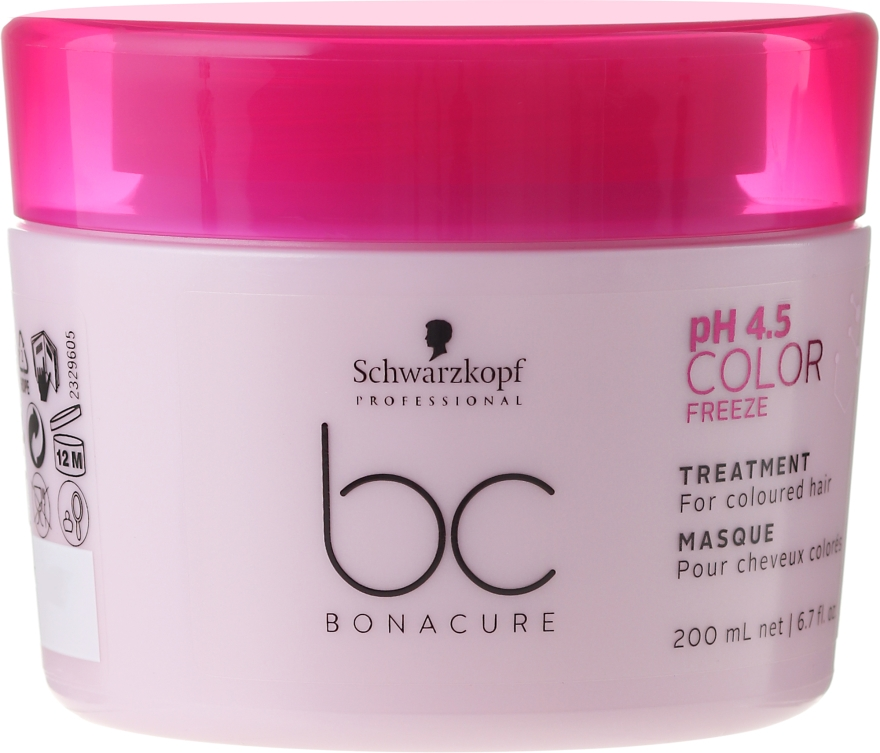 Maschera-cura per capelli colorati - Schwarzkopf Professional Bonacure Color Freeze pH 4.5 Treatment