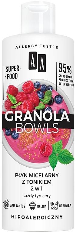 Acqua micellare e tonico 2 in 1 - AA Granola Bowls Micellar Water And Tonic 2 in 1