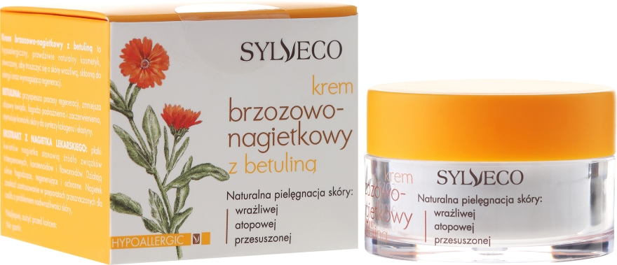 Crema alla calendula con betulina - Sylveco Birch And Marigold Day Cream With Betulin