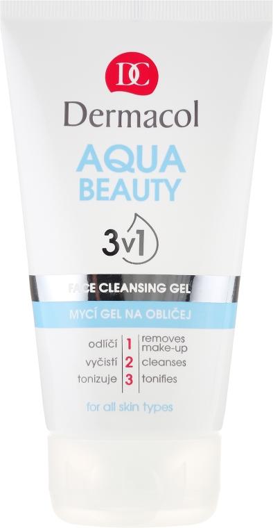 Gel detergente - Dermacol Aqua Beauty 3v1 Face Cleansing Gel