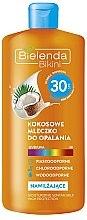 Profumi e cosmetici Crema protezione solare al latte di cocco SPF30 - Bielenda Bikini Moisturizing Suntan Milk