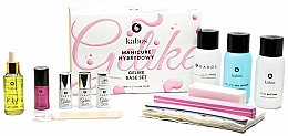 Profumi e cosmetici Set per manicure, 13 prodotti - Kabos Base Set Gelike Red