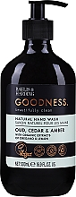 Profumi e cosmetici Sapone liquido mani - Baylis & Harding Goodness Oud, Cedar & Amber Natutal Hand Wash