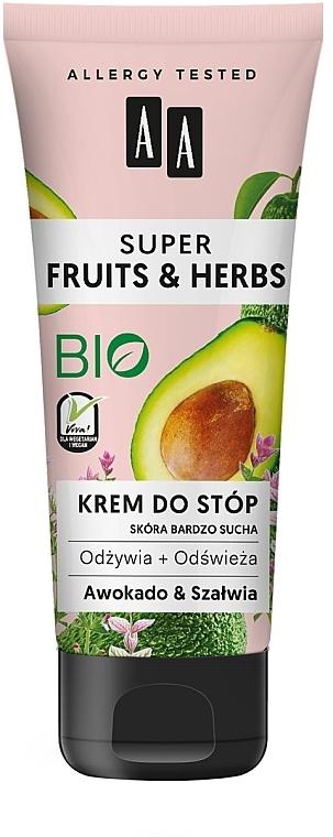 """Crema piedi """"Avocado e salvia"""" - AA Super Fruits & Herbs"""