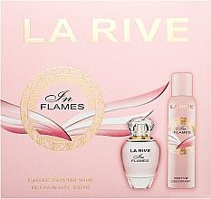 Profumi e cosmetici La Rive In Flames - Set (edp/90ml+deo/150ml)