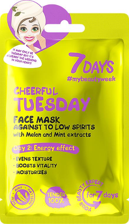 """Maschera viso energizzante con estratti di melone e menta """"Cheerful Tuesday"""" - 7 Days Cheerful Tuesday"""
