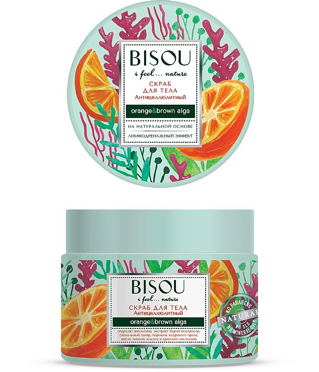 """Scrub corpo """"Anticellulite"""" - Bisou I feel... Nature Anti-Cellulite Body Scrub Orange & Brown Algae"""