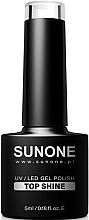 Profumi e cosmetici Top coat - Sunone UV/LED Gel Polish Top Shine