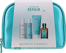 Profumi e cosmetici Set - MoroccanOil Repair Kit (shmp/70ml + cond/70ml + cr/75ml + oil/25ml + bag)