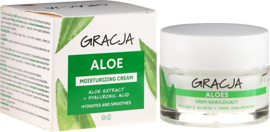 Crema Idratante Antirughe con aloe vera e acido ialuronico - Gracja Aloe Moisturizing Face Cream