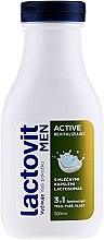 Profumi e cosmetici Gel doccia 3in1, uomo - Lactovit Men Active 3v1 Shower Gel