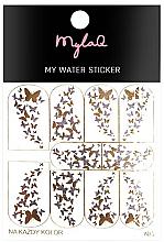"""Profumi e cosmetici Adesivi unghie 5""""Farfalle"""" - MylaQ My Water Sticker"""