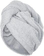 Profumi e cosmetici Asciugamano turbante, griggio - MakeUp
