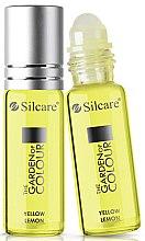 Profumi e cosmetici Olio per unghie e cuticole - Silcare The Garden of Colour Cuticle Oil Roll On Lemon Yellow