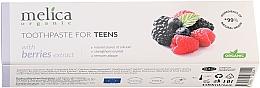 Profumi e cosmetici Dentifricio per adolescenti , 6-14 anni - Melica Organic Toothpaste For Teens With Berries Extract