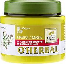 Profumi e cosmetici Maschera con estratto di timo, per capelli colorati - O'Herbal