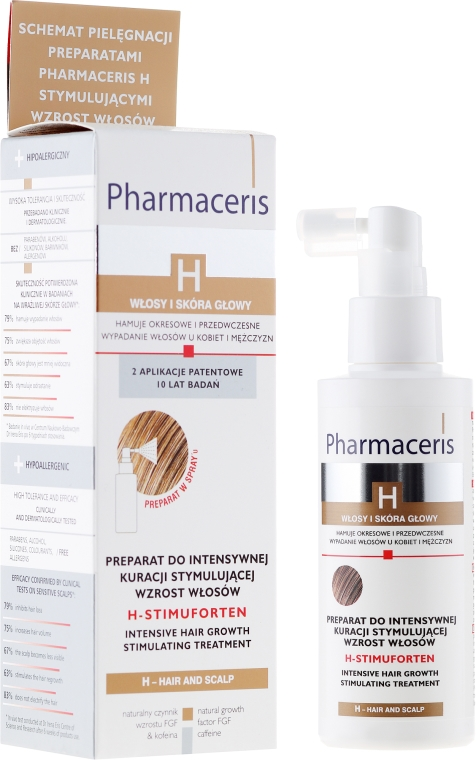 Trattamento stimolante per crescita dei capelli - Pharmaceris H-Stimupurin Itensive Hair Growth Stimulating Treatment
