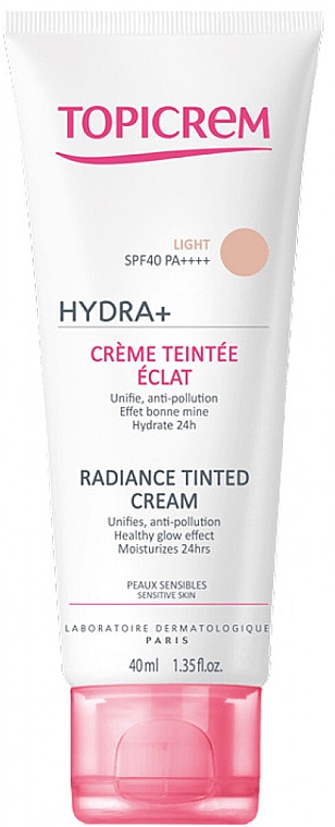 Fondotinta illuminante - Topicrem Hydra+ Radiance Tinted Cream SPF 40