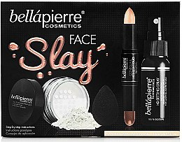 Profumi e cosmetici Set - Bellapierre Face Slay Kit Fair/Medium (stick/8.6g+powder/6.5g+spray/70ml+sponge/1pcs)