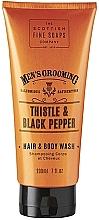 Profumi e cosmetici Gel doccia shampoo - Scottish Fine Soaps Men's Thistle & Black Pepper Hair Body Wash