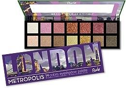 Profumi e cosmetici Palette ombretti, 14 colori - Rude Metropolis Eyeshadow Palette