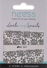 Profumi e cosmetici Adesivi per unghie 3685, BD-061 - Neess LoveliNeess & Nails