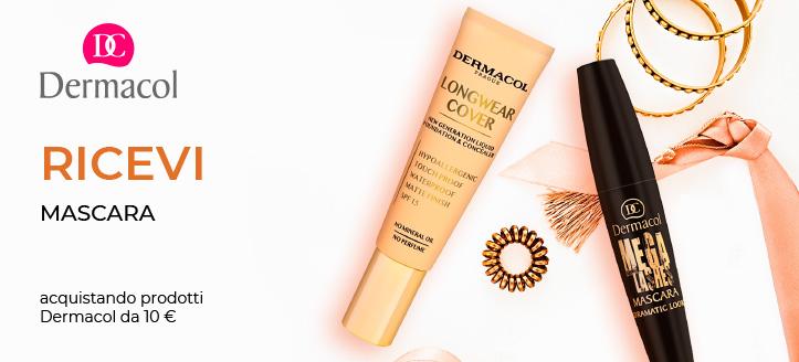 Ricevi in regalo un mascara, acquistando prodotti Dermacol da 10 €