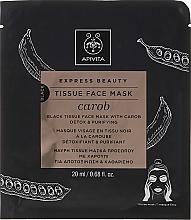 Profumi e cosmetici Maschera disintossicante in tessuto - Apivita Express Beauty Tissue Face Mask Carob