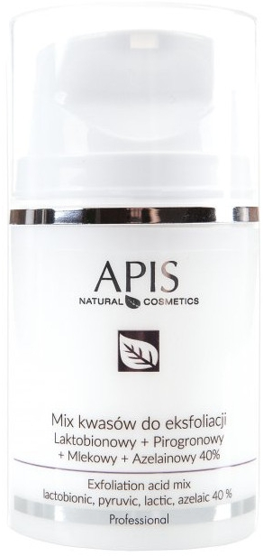 Miscela di acidi per peeling - APIS Professional Lacticion + Pirogron + Milk + Azelaine 40%