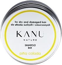 Profumi e cosmetici Shampoo per capelli secchi e danneggiati, in una scatola di metallo - Kanu Nature Shampoo Bar Pina Colada For Dry And Damaged Hair