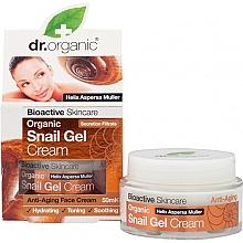 Profumi e cosmetici Crema-gel viso alla bava di lumaca - Dr. Organic Bioactive Skincare Snail Gel Cream